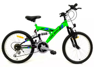 Bicicleta Mountain Bike Firebird Doble Suspension Rodado 20