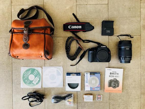 Câmera Digital Eos Rebel Canon T3i + Lente 18-135mm