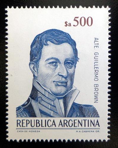 Argentina, Sello Gj 2150 Alte G. Brown $a 500 85 Mint L9758