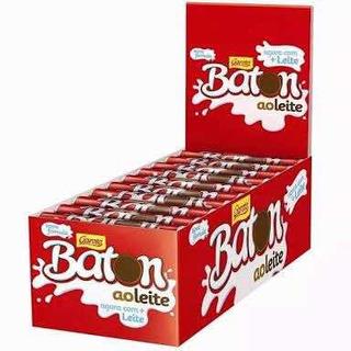 6 Caixas Chocolate Batom Ao Leite Garoto Total 90 Unidades