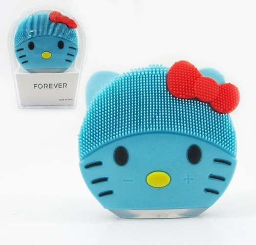 Esponja Limpeza Facial E Massageadora Elétrica - Hello Kitty
