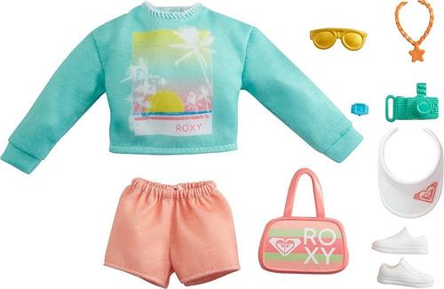 Imagem 1 de 5 de Barbie Fashion Roxy Roupa 2021 Cartela Acessórios Esporte