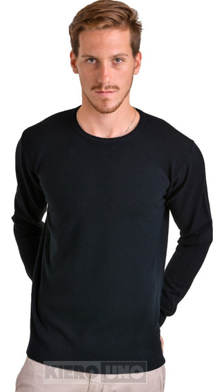 Sweater Hombre Lana Cuello Redondo Saco Fino Kierouno