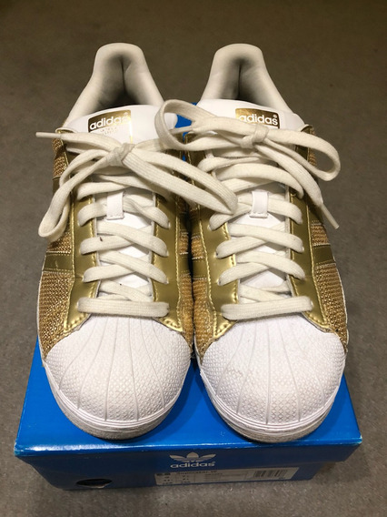 Zapatillas adidas Superstar Dama, Excelente Estado, 40 Arg