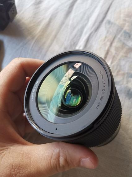 Lente Sigma 16mm F1.4 Para M4/3 Olympus Panasonic Ler Descri
