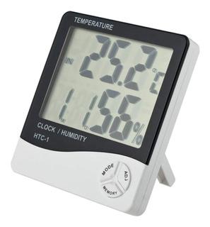 Termometro Reloj Despertador Con Humedad + Fecha + Alarma