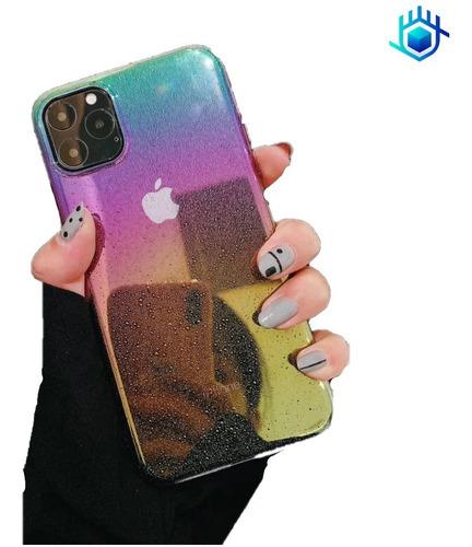 Funda Nebula iPhone Tornasol Arcoiris Unicornio Mujer Hombre