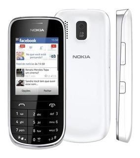 Celular Desbl Nokia Asha 202 Dual Sim Touch Câmera Anatel