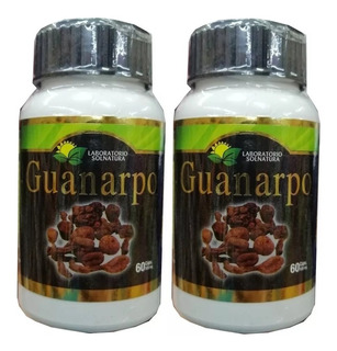2 Frascos C/u 60 Capsulas Reforzadas 500mg Guanarpo Viagra