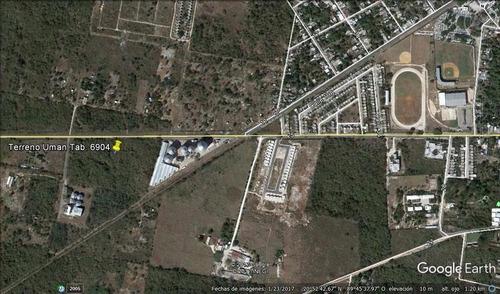 Imagen 1 de 8 de Muy Bien Ubicado Terreno De 3.4 Has En La Carretera Umán-kinchil, Yuc.
