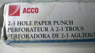 Perforadora De 2-3 Agujeros 8 A 10 Hojas De Capacidad Acco