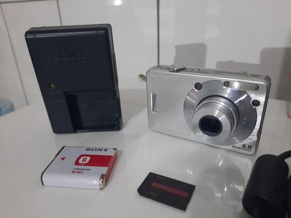 Câmera Sony Cybershot Dsc-w50 3x Ópticos, Visor 2.5, 1gb