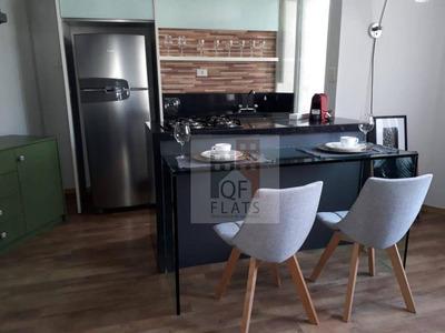 Flat Com 1 Dormitório Para Alugar, 46 M² Por R$ 5.000/mês - Vila Nova Conceição - São Paulo/sp - Fl2251