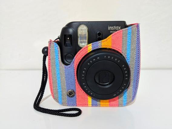 Câmera Instax Mini 8 + Capa Com Alça + 40 Filmes