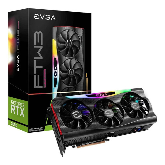 Placa De Video Evga Geforce Rtx 3090 Ftw3 24gb Ddr6x Ultra