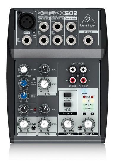 Mesa De Som Behringer Xenyx 502 C/ 5 Entradas E Pré-amp