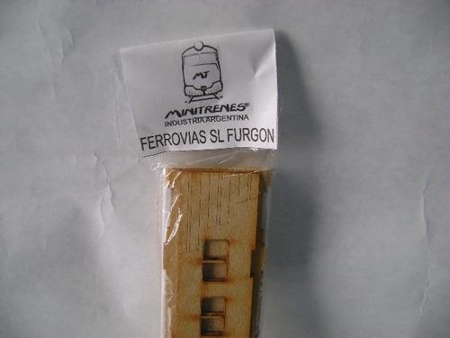 Imagen 1 de 6 de Nico Coche Servicio Local C/furg Kit Fibrofacil H0 (mnt  70)