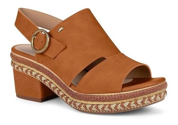 Sandália Flatform Dakota Z5382 Caramelo Salto Baixo Verão 20
