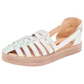 Sandalia Huarache Dama Zapato Sc D76748 Rosa,blanco,oro