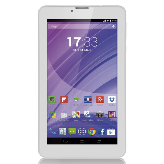 Tablet Branco M7 3g Quad Core Câmera Wi-fi Tela Hd 7