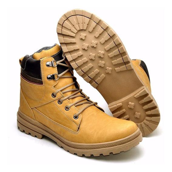 Sapato Bota Coturno Masculino Adventure Cano Médio Social