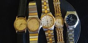 Lote 5 Relógios De Pulso Feminino Marcas Variadas