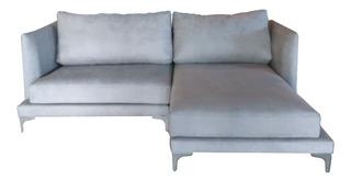 Sala / Sofa 2 Piezas 3 Plazas Tapizado Terciopelo Mueble Diseño Moderno Estructura Aluminio Decoración Interior