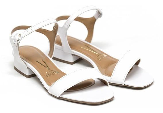 Sandalias Mujer Cuero Sintetico Taco Medio Zapatos Vizzano