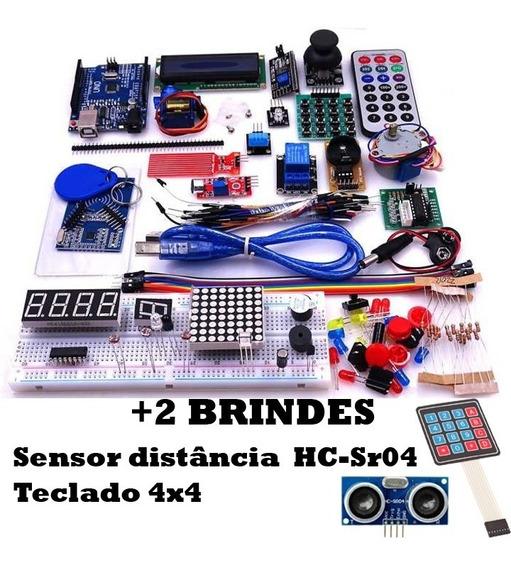 Kit Uno R3 Robótica Automação Compatível Com Arduino