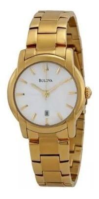 Relógio Bulova Dourado Unissex Wb21605h Original