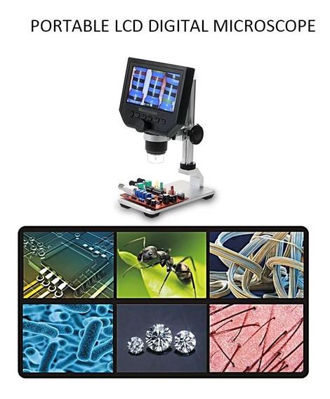 Microscopio Digital Portátil G600 Tela Oled 4.3 Hd 3,6mp