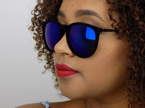 5575d7200 Oculos Escuros Redondo Espelhado Colorido De Sol - Óculos no Mercado ...