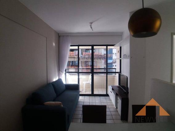 Apartamento Com 1 Quarto Para Alugar, 40 M² Por R$ 1.999,00/mês - Pina - Recife/pe - Ap2122