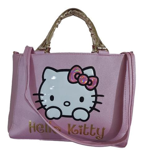 Imagen 1 de 7 de Hermosa Bolsa De Mano Con El Personaje De Kitty Color Rosa