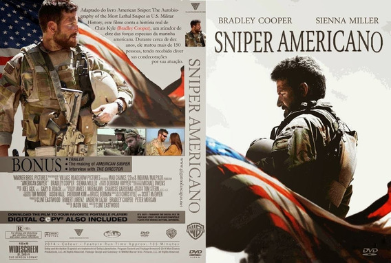 Dvd Filme - Sniper Americano + Bônus