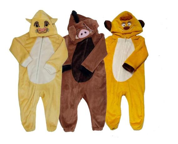 Kit 3 Mamelucos Disney Simba,pumba,timon A Precio De 2