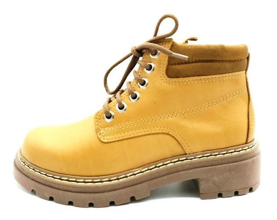 Borcegos Acordonado Zapato Cuero Vacuno Savage Ms-20