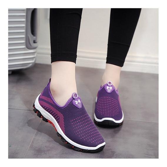 Zapatos De Mujer De Verano Moda Luz Caliente Tenis Feminino
