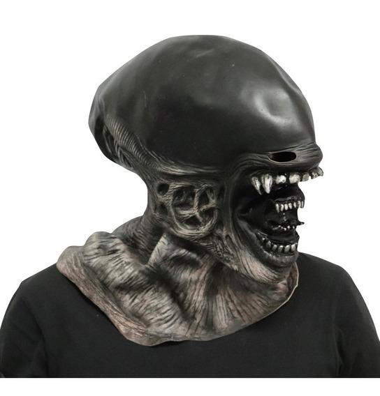 Máscara Alien Extraterrestre 100% Latex Disfraz Halloween