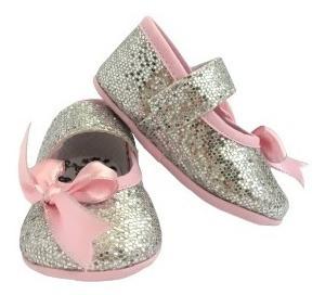 Zapato Plateado Bebes Elegante Coral Bonito Bebe Regalo