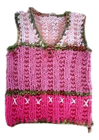 Chalecos 1 Año Pechito Tejidos Para Niño Bebé Crochet Nuevo