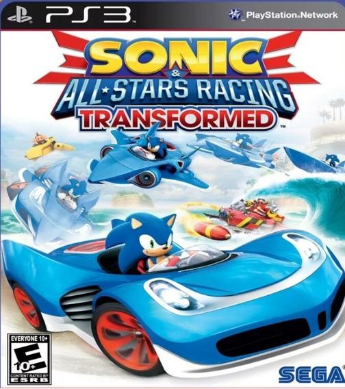 Ps3 Sonic & All-stars Racing Transformed Psn Jogo Envio Já