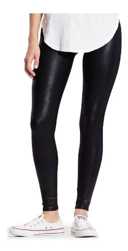 Pantalon Leggins Tipo Cuero Tela Licra Negro Mercado Libre
