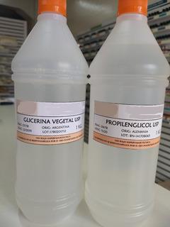 Propilenglicol + Glicerina Vegetal X 1 Kilo Cada Uno
