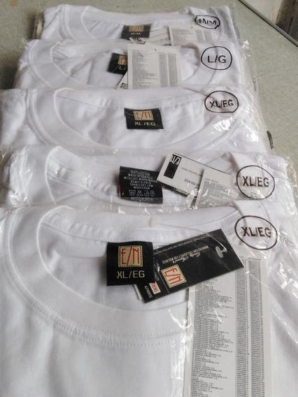 Franelas Blancas Importadas Etiqueta Negra De Caballeros 8v