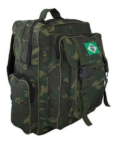 Mochila Camuflada Exército Militar Mochilão Impermeável 510