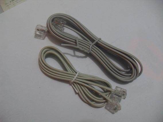 Cable De Conexion Rj11 Macho Telefono, Modem Router 1.8 Mts.