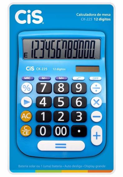 Calculadora Cis Ck-225 De Mesa 12 Dígitos Az - Cis 1 Unidade