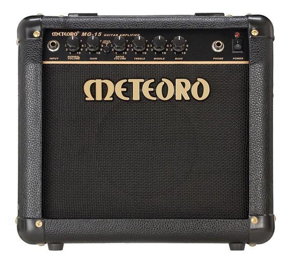 Amplificador Cubo Meteoro Mg15 Guitarra 15w C/ Distorção