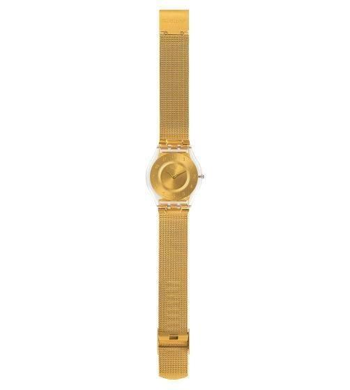 Relógio Swatch Generosity Sfk355m Aço Dourado Original